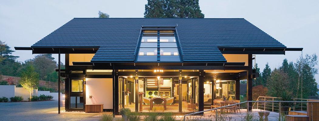 Остекление крыши дома